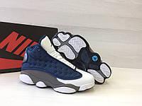 Кроссовки мужские Nike Air Jordan 13-Original код товара 4S-1049. Бело-синие