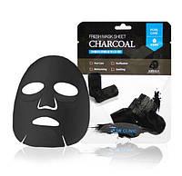 Очищающая маска с древесным углём 3W Clinic Fresh Mask Sheet Charcoal, фото 1