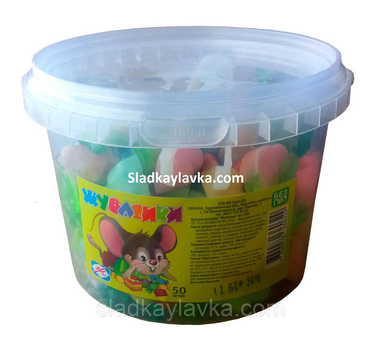 Желейная конфета Мышки 50 шт (Жувасики)