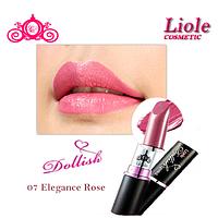 Профессиональная губная помада Lioele Dollish Lipstick Изящная роза