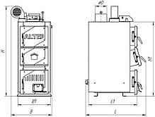 Твердотопливный котел ALtep CLASSIC PLUS 24 кВт, фото 2