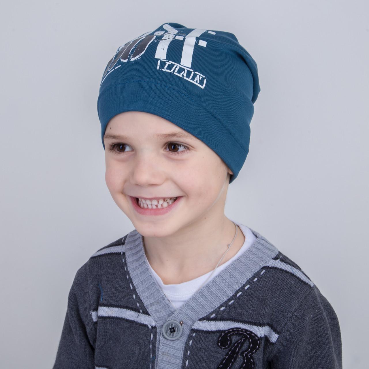 Модная шапка для мальчика на весну 2018 оптом - Артикул 2174
