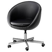 IKEA SKRUVSTA Рабочий стул, черный и черный  (602.800.26)