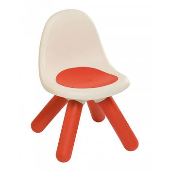 Стульчик со спинкой детский красный Smoby 880103