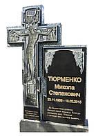 Памятник гранитный одинарный хрест провославный