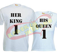 Парные футболки Her King_His Queen