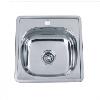 Врезная кухонная мойка Platinum 48*48*15 Satin 0.6