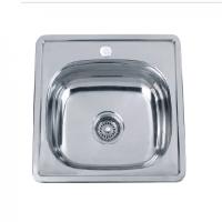 Врезная кухонная мойка Platinum 48*48*15 Satin 0.6, фото 1