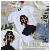 Модные красивые женские футболки (разные принты)
