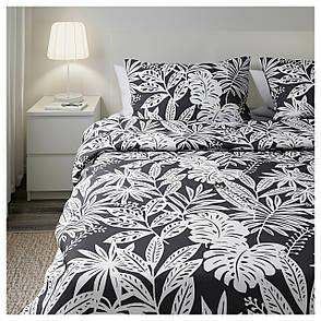 ФАГЕРГИНСТ Комплект постельного белья, серый, белый, 200x200/50x60 см 90350287 IKEA, ИКЕА, FAGERGINST, фото 2