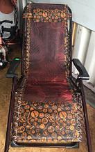 Шезлонг розкладне крісло-лежак 180х110х63 садове крісло для відпочинку кемпинговое