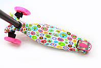 Трехколесный самокат Scooter со светящимися колесами для детей и подростков весна-лето, фото 2