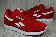 Замшевые женские красные кроссовки Reebok Classic , фото 1