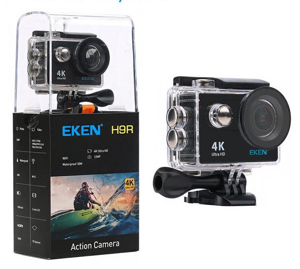 Экшн камера EKEN H9 V2.0 ULTRA HD 4K WI-FI NEW 2017 - Black
