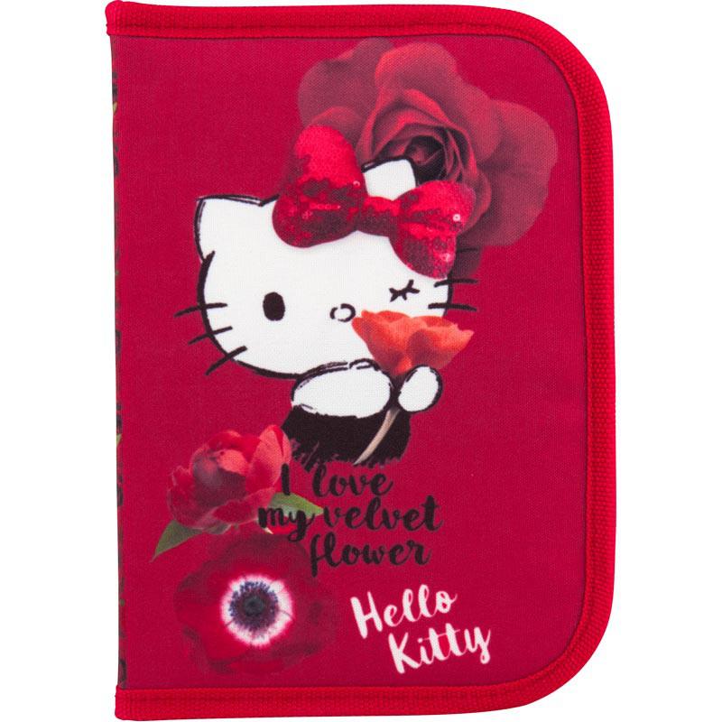 Пенал Kite HK18-622 2 отворота Hello Kitty