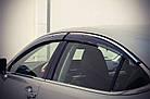Дефлекторы окон ветровики на LEXUS Лексус ES 2013- (с хром молдингом), фото 2