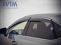 Дефлекторы окон ветровики на LEXUS Лексус NX 2014 - (с хром молдингом)