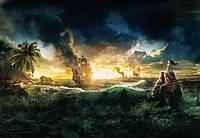Фотообои на плотной полуглянцевой бумаге для стен 184*127 см из 1 листа: Пираты карибского моря. Komar 1-408