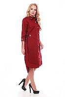 Платье большого размера VР45 бордо, фото 1