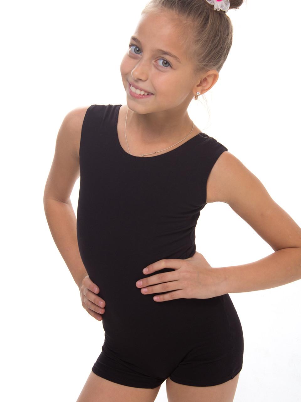Комбінезон для танців і гімнастики (майка - шорти) трикотажний від 104см до 140см