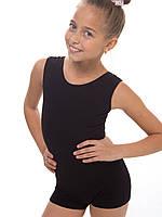 Комбинезон для танцев и гимнастики (майка - шорты) трикотажный от 104см до 140см