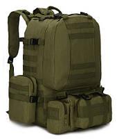 Тактический Штурмовой Военный Рюкзак с подсумками на 50-60 литров (1004)