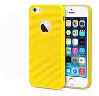 Силиконовый желтый чехол для Iphone 5/5S