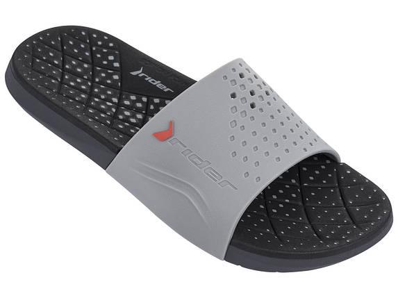 Оригинал Шлепанцы мужские 82209-24439 Rider Infinity Slide Grey/Black Черно-Серые, фото 2