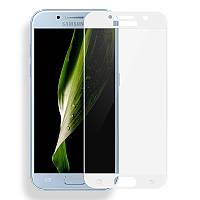 АКЦИЯ! Цветное защитное стекло для Samsung A720 Galaxy A7 (2017) (на весь экран) /для САМСУНГА галакси А7/А720/2017 года/