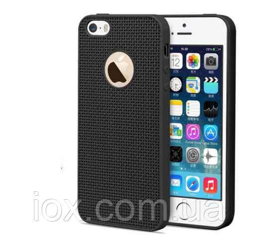 Силиконовый черный чехол для Iphone 5/5S
