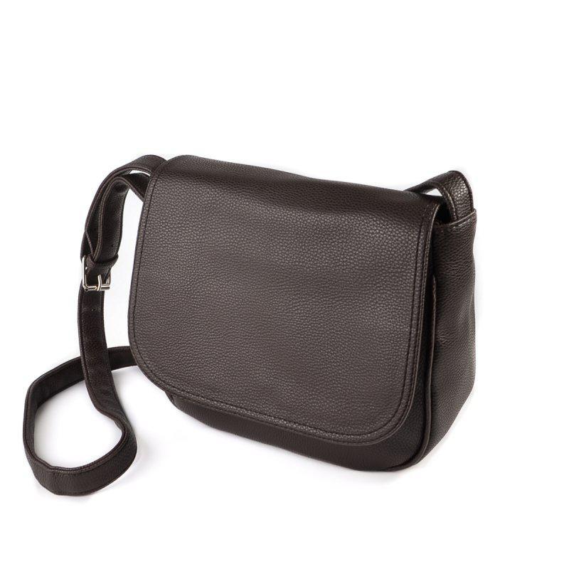 eb8ba39d1555 Коричневая сумочка через плечо М52-40 среднего размера молодежная, фото 1