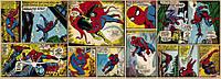 Фотообои на плотной полуглянцевой бумаге для стен 202*73 см из 1 листа: Комиксы человека паука. Komar 1-435