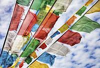 Фотообои на плотной полуглянцевой бумаге для стен 184*127 см из 1 листа: Разноцветные флаги. Komar 1-606