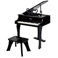 Черное фортепиано со стульчиком Hape E0320