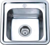 Врезная кухонная мойка Platinum 38*38*16 Satin 0.6, фото 1