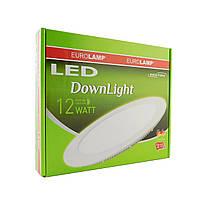 LED Downlight Eurolamp NEW 12W 4000K (кругл.)
