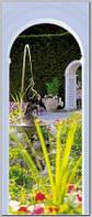 Фотообои на плотной полуглянцевой бумаге для стен 92*220 см : Арка и фонтан. Komar 2-1889