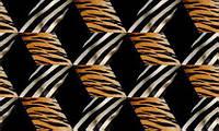 Фотообои на плотной полуглянцевой бумаге для стен 368*254 см : Тигр и зебра. Komar 2-509