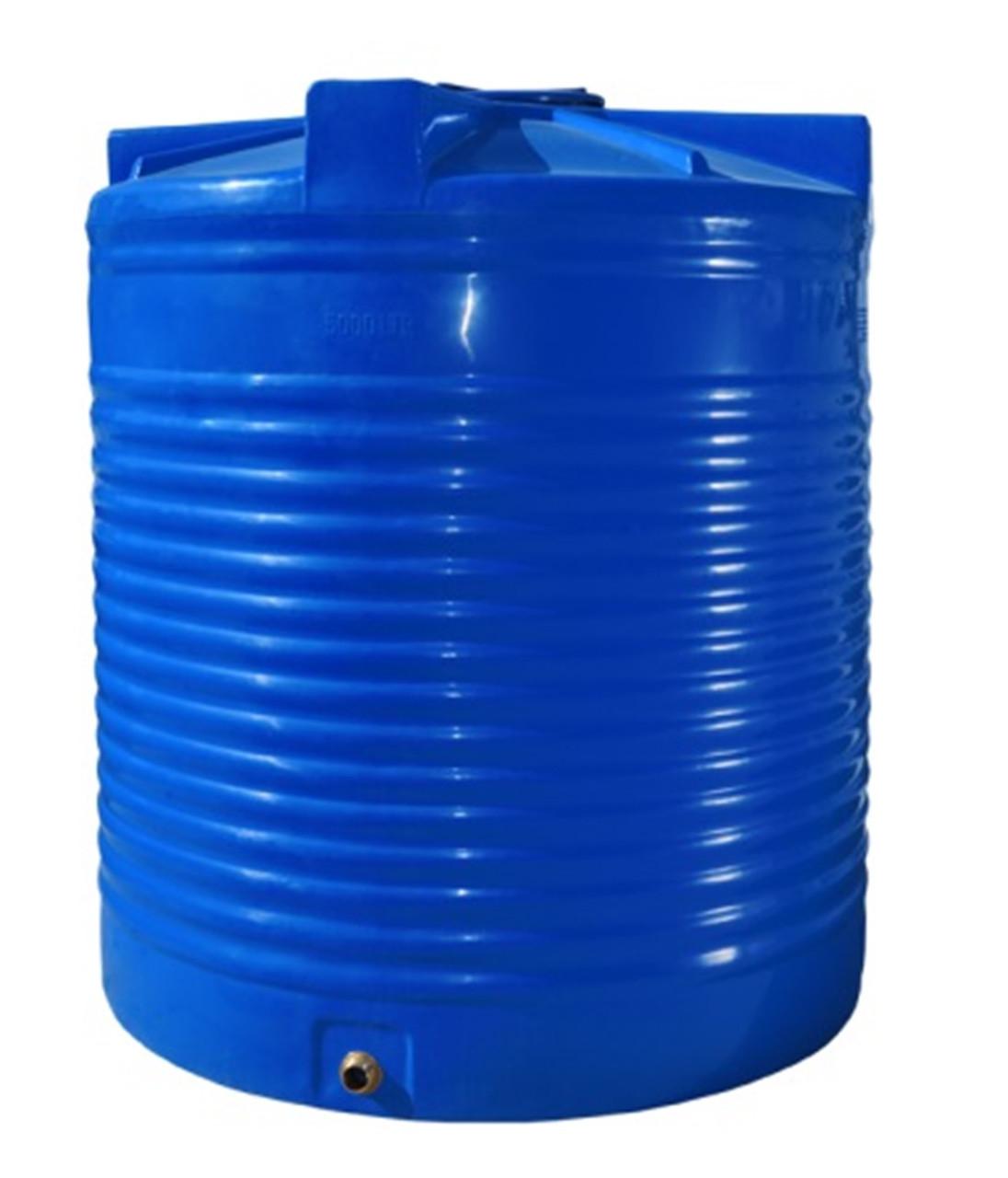 Емкость двухслойная вертикальная R.EURO PLAST RVД 200 (70х66), диаметр люка 35 см, штуцер 1/2''