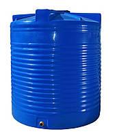Емкость двухслойная вертикальная R.EURO PLAST RVД 2000 (135х155), даметр люка 35 см, штуцер 1''