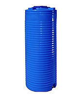 Емкость двухслойная вертикальная узкая EUROPLAST RVД 100 У (45х97), даметр люка 35 см, штуцер 1/2''