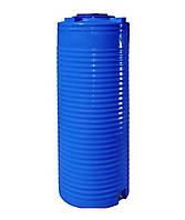 Емкость двухслойная вертикальная узкая EUROPLAST RVД 750 (79х170), даметр люка 35 см, штуцер 1/2''