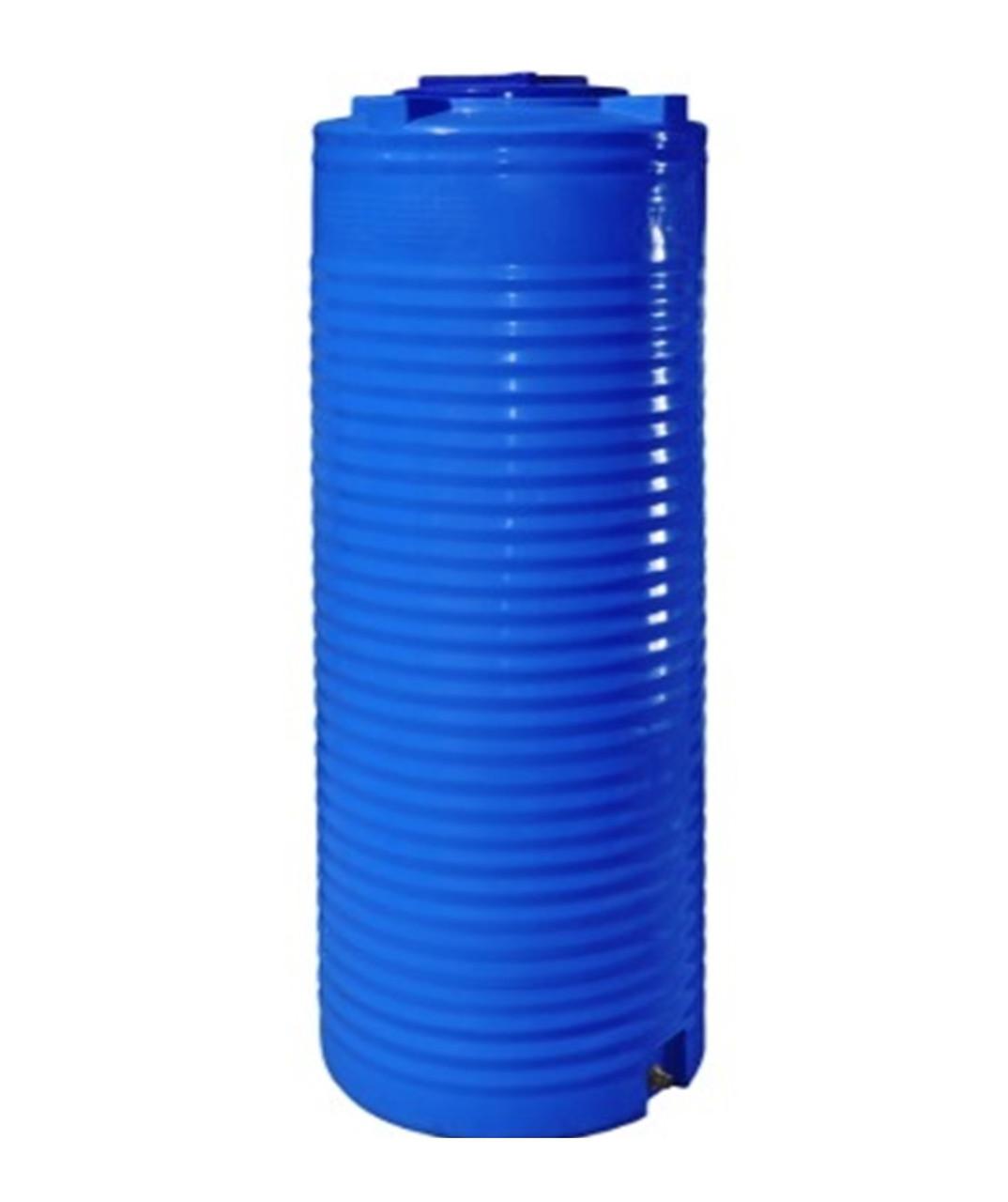 Емкость двухслойная вертикальная узкая R.EURO PLAST RVД 1000 У (80х225), даметр люка 35 см, штуцер 3/4''