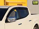 Дефлекторы окон ветровики на MITSUBISHI Митсубиси L200 -2015, фото 2