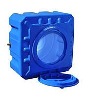 Емкость квадратная (КУБ) двухслойная R.EURO PLAST RKД 100 Куб (64х64х40), даметр люка 35 см, штуцер 1/2''