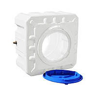 Емкость квадратная (КУБ) однослойная R.EURO PLAST RKО 100 Куб (64х64х40), даметр люка 35 см, штуцер 1/2''