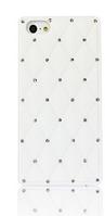 Силіконовий білий чохол зі стразами для Iphone 5/5S