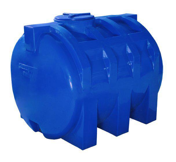 Емкость двухслойная горизонтальная R.EURO PLAST с ребром 1000 RGД Р (157х110х92), даметр люка 35 см, штуцер 3/4''