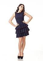 Женское платье с воланами на юбке. П111