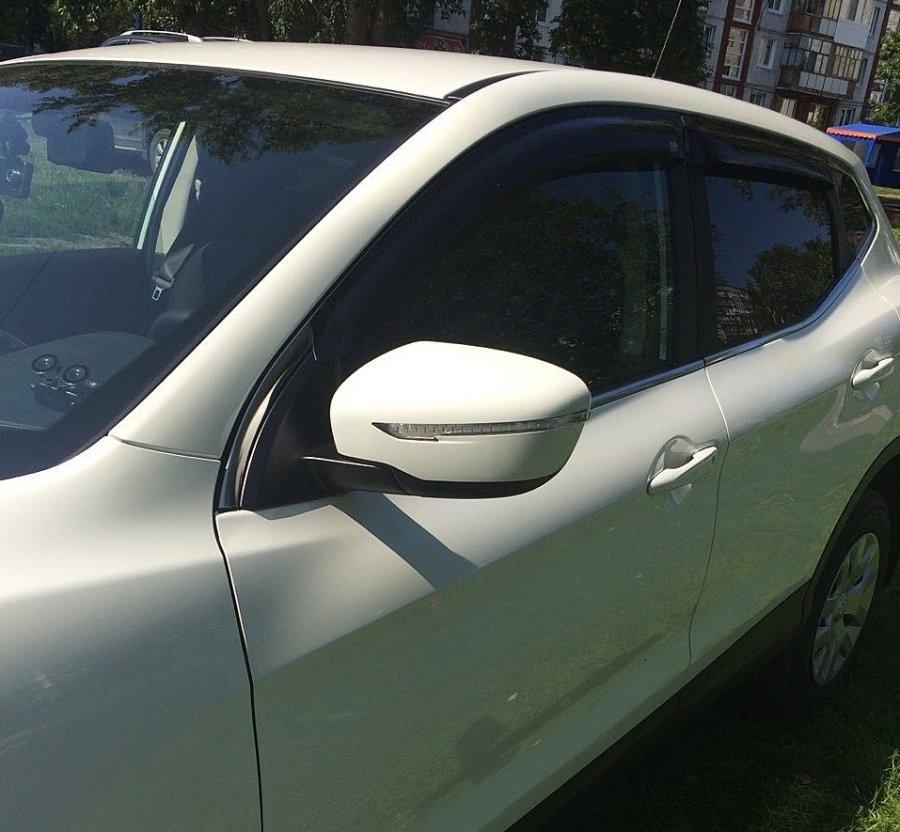 Дефлектори вікон вітровики на NISSAN Nissan QASHQAI 2013-